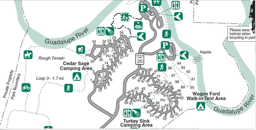 My Wisconsin Space » Map of Guadalupe River State Park – Spring