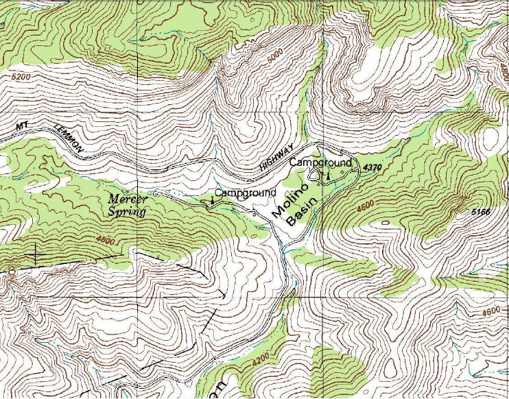 My Wisconsin Space Topographic Map Of Molino Canyon And - Arizona topographic map