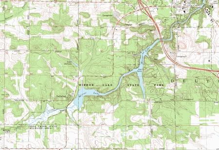 My Wisconsin Space Topographic Map Of Mirror Lake State Park - Wisconsin topographic lake maps