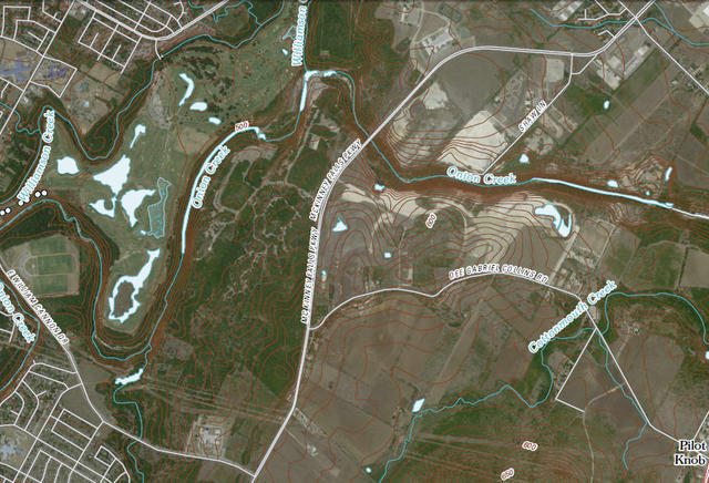 My Wisconsin Space » Digital Topographic Map of McKinney Falls State on
