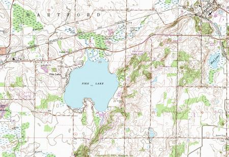 My Wisconsin Space Topographic Map Of The Pike Lake Unit Kettle - Wisconsin topographic lake maps