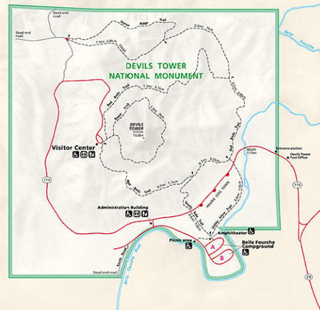 on devils tower map