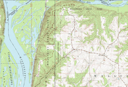 My Wisconsin Space » Topographic Map of Wyalusing State Park ...