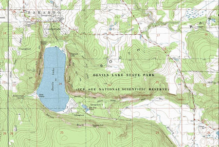 My Wisconsin Space Topographic Map Of Devil S Lake State Park