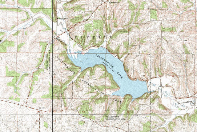 Topographic Map Of Yellowstone.My Wisconsin Space Topographic Map Of Yellowstone Lake State Park