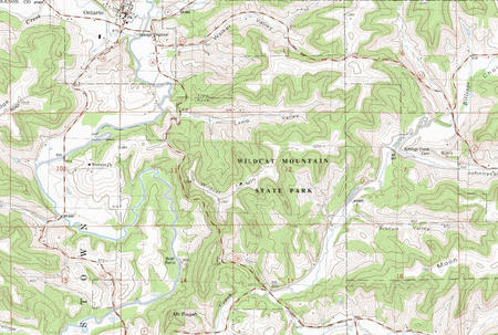 My Wisconsin Space 187 Topographic Map Of Wildcat Mountain