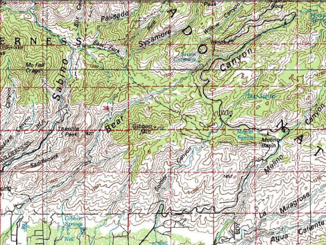 My Wisconsin Space Topographic Map Of Bear Canyon Coronado - Arizona topographic map