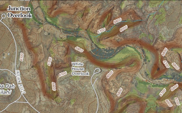 Map Of Arizona Indian Ruins.My Wisconsin Space Digital Topographic Map Of White House Ruins