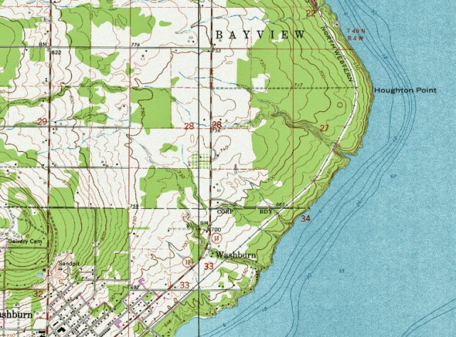 My Wisconsin Space Topographic Map