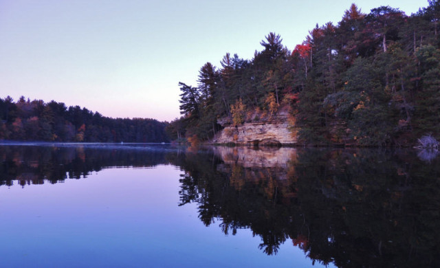 Mirror Lake at Dusk, Mirror Lake State Park - Lake Delton, Wisconsin