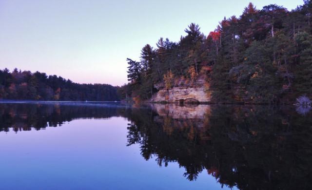 Mirror Lake at Dusk, Mirror Lake State Park - Lake Delton, Wisconsin