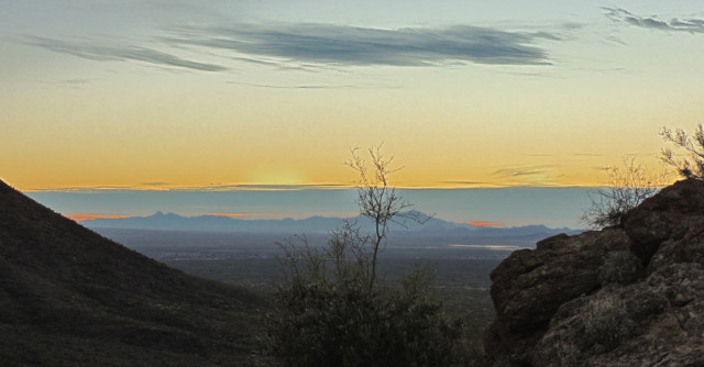 Evening Twilight, Tucson Mountain Park - Tucson, Arizona