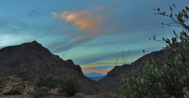 Evening Twilight at Gates Pass, Tucson Mountain Park - Tucson, AZ