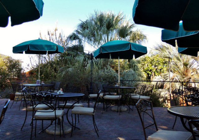 Outdoor Seating at the Garden Bistro, Tohona Chul Park - Tucson, AZ