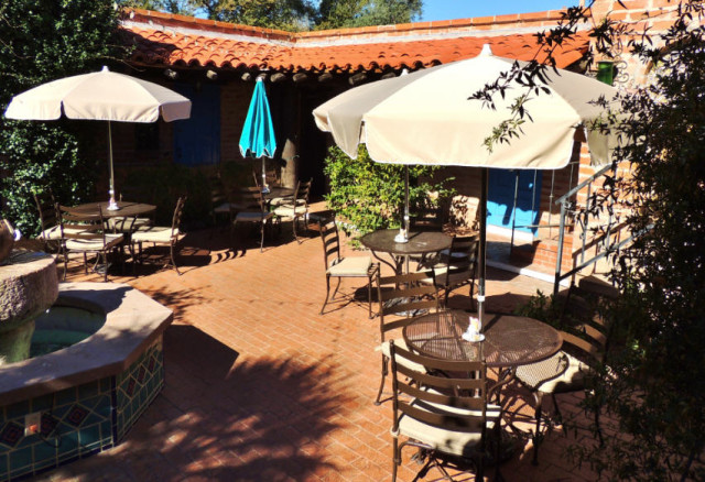 Courtyard Seating at the Garden Bistro, Tohona Chul Park - Tucson, AZ