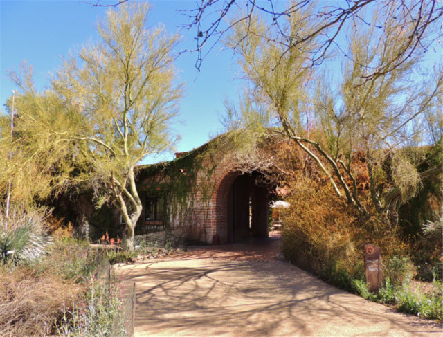 Entrance to Garden Bistro, Tohona Chul Park - Tucson, Arizona