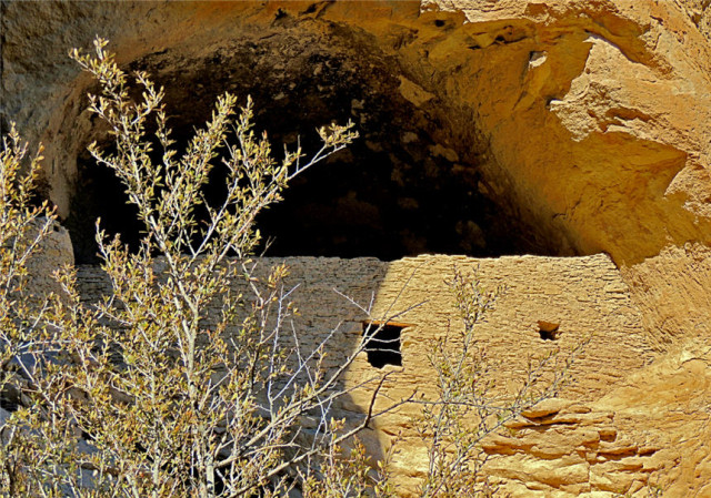 Entrance to a Cave, Gila Cliff Dwellings National Monument - Silver City, NM
