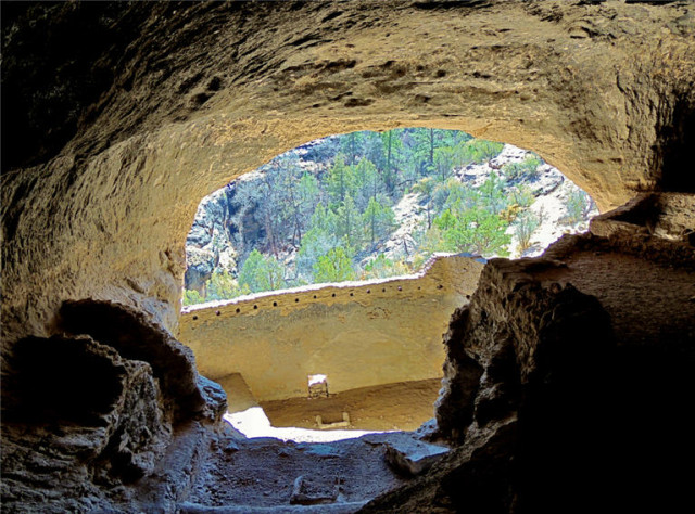 Looking Out a Cave, Gila Cliff Dwellings National Monument - Silver City, NM