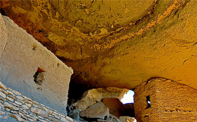 Buildings in a Cave, Gila Cliff Dwellings National Monument - Silver City, NM