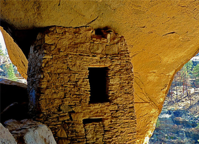 Building in the Cave, Gila Cliff Dwellings National Monument - Silver City, NM