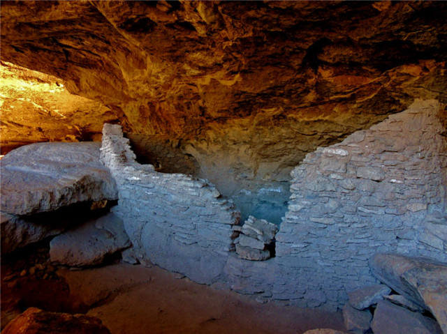 Dwelling Inside a Cave, Gila Cliff Dwellings National Monument - Silver City, NM